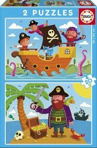 Puslespill 2x20 Pirates Educa