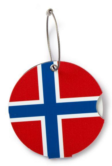 Adressebrikke Norwegian Flag