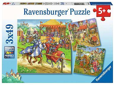 Puslespill 3X49 Riddere Ravensburger