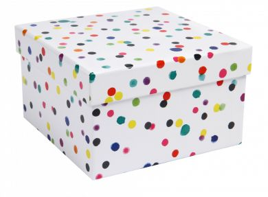 Watercolour Dots Box Medium