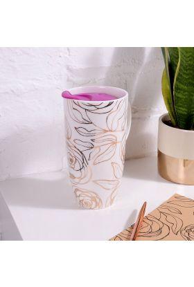 Reisekopp Floral Ceramic Travel Cup