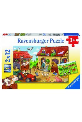 Puslespill Ravensburger 2X12 Bondegård