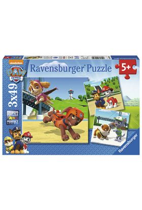Puslespill Ravensb 3X49 Paw Patrol