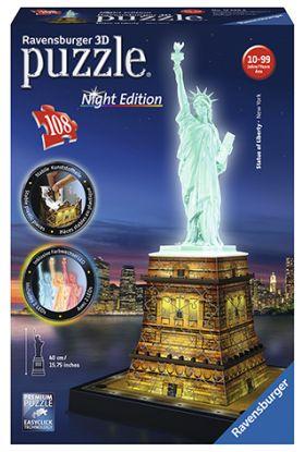 Puslespill Ravensb 3D 108 Statue Of Liberty