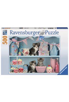 Puslespill Ravensb 500 Cats And Cupcake
