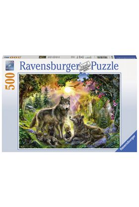 Puslespill 500 Wolf Family Ravensburger