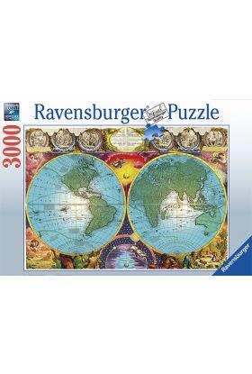 Puslespill Ravensburger 3000 Antique Map