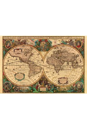 Puslespill Ravensb Antique Map 5000