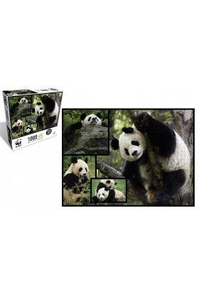 Puslespill 1000 Pandas WWF