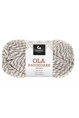 Garn Gjestal Ola Raggegarn 50g Natur/brun