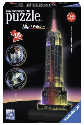 Puslespill 216 3D Empire State Building Ravensburg