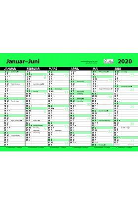 7.Sans Kontorkalender. Enkel A4 Med Linjer 2020