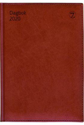 7.Sans Dagbok A5 M/Mnd.Reg.Innbund. Brun 2020