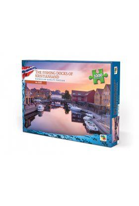 Puslespill 1000 Fishing Docks Of Kristiansan Norge