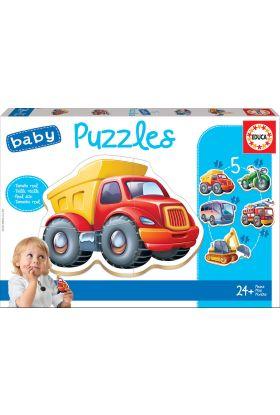 Puslespill Educa Baby 5 Vehicles