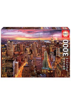 Puslespill 3000 Manhattan Skyline Educa
