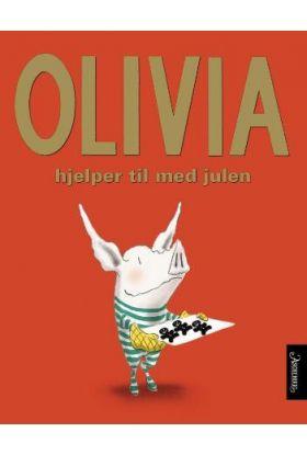Olivia hjelper til med julen