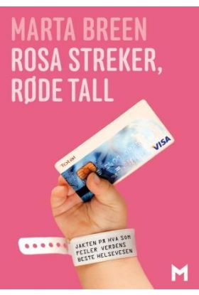 Rosa streker, røde tall