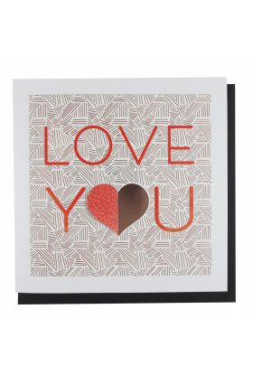 Kort PC Val Lasercut Love You