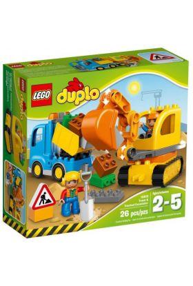 Lego Lastebil Og Gravemaskin Med Belter 10812