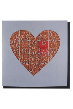Kort PC Val Lasercut Jigsaw Heart