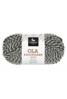 Garn Gjestal Ola Raggegarn 50g Koks/grå/natur