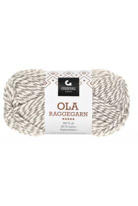 Garn Gjestal Ola Raggegarn 50g Natur/grå
