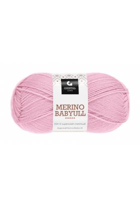 Garn Gjestal Merino Baby Ull 50g Lys rosa