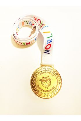 Medaljer Norli Junior Lesekonkurranse 2019: hvit