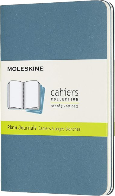 Notatbok Moleskine Cahier 3pk P - Blank Brisk Blue