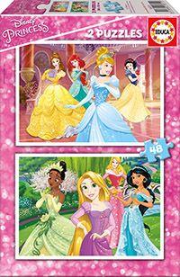 Puslespill 2X48 Disney Princess Educa