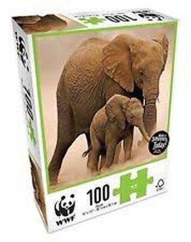 Puslespill 100 Elephants WWF
