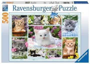 Puslespill 500 Katter I Kurv Ravensburger