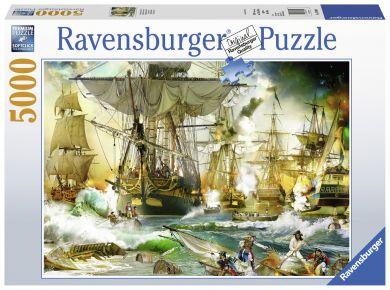Puslespill 5000 Ship Battle Ravensburger
