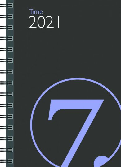 Lommekalender 2021 7.sans Time Uke A6 Grå