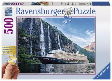 Puslespill 500 Fjordcruise Ravensburger