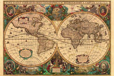 Puslespill 5000 Antique Map Ravensburger
