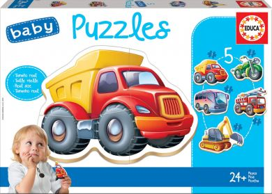 Puslespill Educa Baby 5 Vehicles