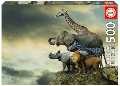 Puslespill 500 Animals On The Edge Of A Clif Educa