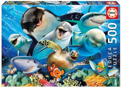 Puslespill Educa 500 Underwater Selfies