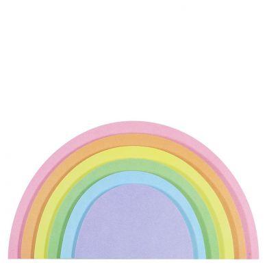 Selvklebende 3D Rainbow Sticky Notes