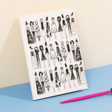 Notatbok SH A5 Illustrated Women Mag
