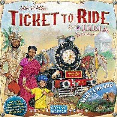 Spill Ticket To Ride Map Coll 2 India