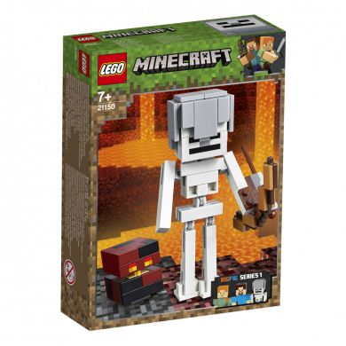 Lego Minecraft Bigfig Skjelett Med Magmakube 21150