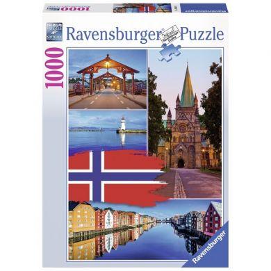 Puslespill 1000 Trondheim Ravensburger