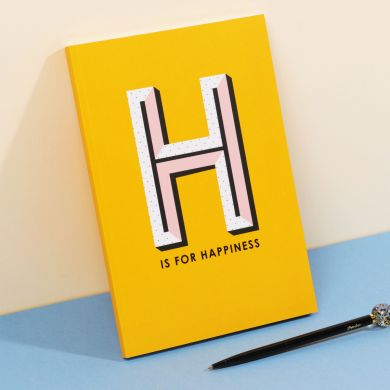 Notatbok A5 Mag H Is For Happiness