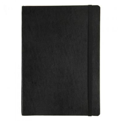 Notatbok Agenzio Black Soft L Plain