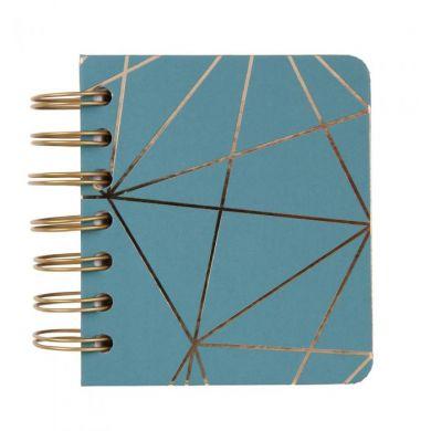 Notatbok A7 Wiro Soft Touch Moss