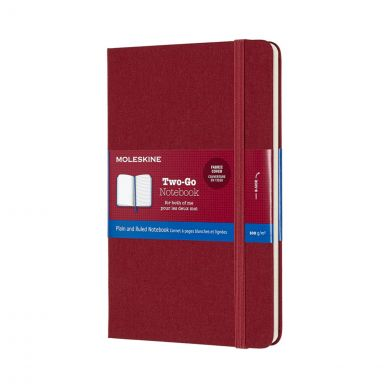 Moleskine Two Go M Ruled Pl Cra Red
