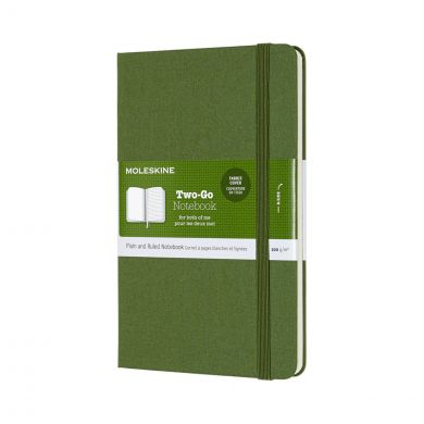 Moleskine Two Go M Ruledplain Grass Gr